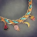 Bracelet ( Light blue mix Orange )